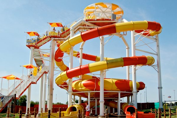 Double Bowls Eye water slides