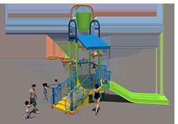 150st Aquatic Play Unit Model