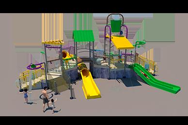 350st Aquatic Play Unit Model