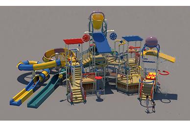 700st Aquatic Play Unit Model