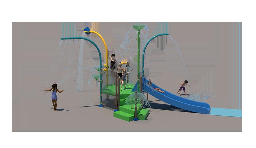 A2 Aquatic Play Unit Model
