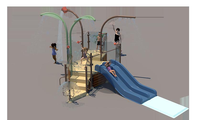A3 Aquatic Play Unit Model