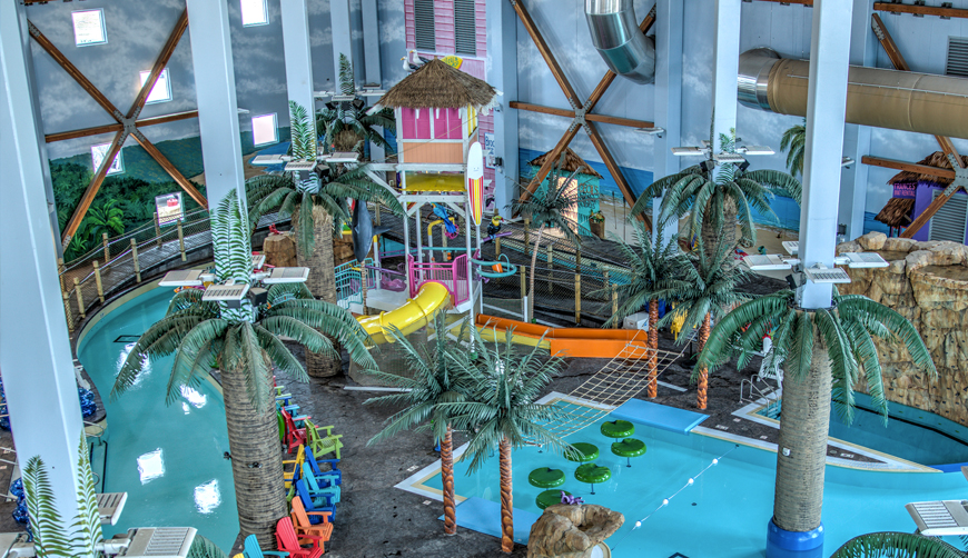 Indoor water park attractions